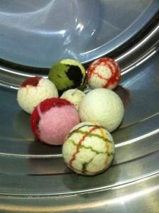 multiple wool dryer balls